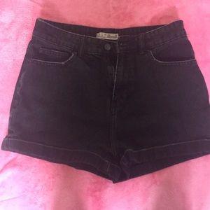 High Rise Denim Jean Shorts